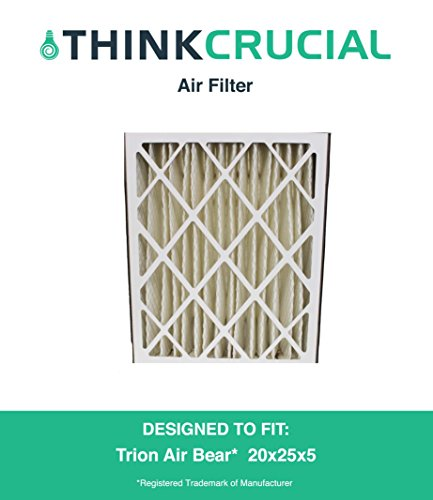 Trion Air Bear Filter 255649-102 Pleated Furnace Air Filter 20x25x5 MERV 8, Designed & Engineered by Crucial Air