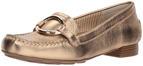 Anne Klein Women's Harmonie Loafer Gold Leather