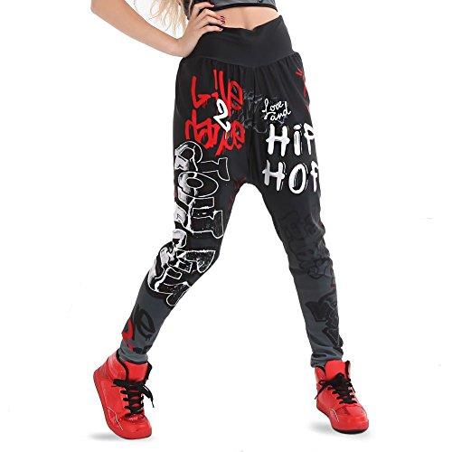 Gia-Mia Dance Big Girls' Hip Hop Dance Jogger Pant Stretch Printed Costume Performance Team, Multi, (Dance Team Performance Costumes)