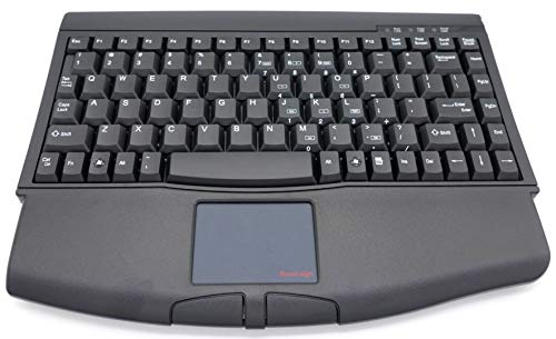 Solidtek Bluetooth Mini Keyboard - SolidTek Mini Keyboard with Touchpad USB Interface Black KB-ACK540UB