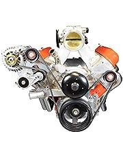 ICT Billet LS Idler Pulley Bracket - Power Steering Eliminator LSX LS1 Truck SUV Camaro LS3 ICT 551776-3