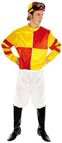 Fun Shack Adult Red & Yellow Jockey Costume - SMALL by Fun (Jockey Costumes For Adults)