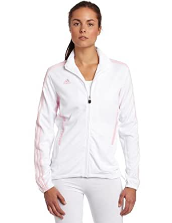 adidas Women's Tiro 11 Training Jacket (White, Diva, XX-Large)