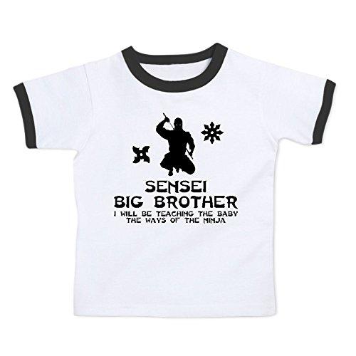 We Match! Sensei Big Brother Teaching The Baby The Ways of the (Girl Kids Ringer T-shirt)