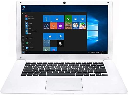 Tocosy Laptop 10.1Inch Quad Core Windows 10 HD Graphics Ultra Thin Computer PC, 2GB RAM 32GB Storage 1.92GHZ USB 2.0 WiFi Bluetooth HDMI IPS Display Notebook (White)