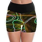 wallpaper hd co - Xianjingshui Women's Yoga Shorts Colorful HD Wallpapers Performance Running Gym Athletic Sport Pants