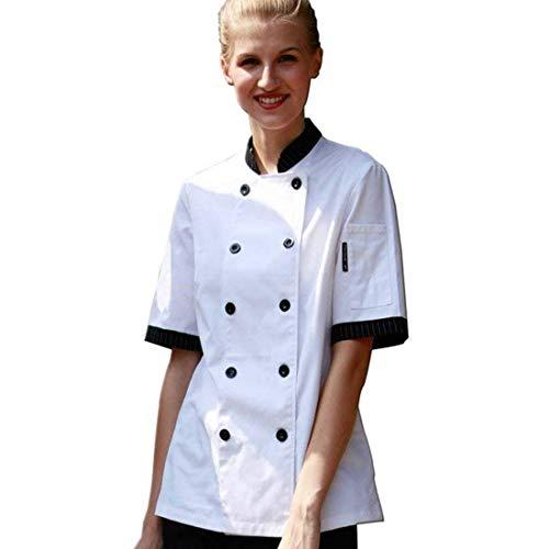 Giacca White Cuoco Colletto Manica Donna Da Corte L A Sulla abbigliamento Nero Maniche Tasca E Con Bianco S Chefmisura wnHFSqx6Ef