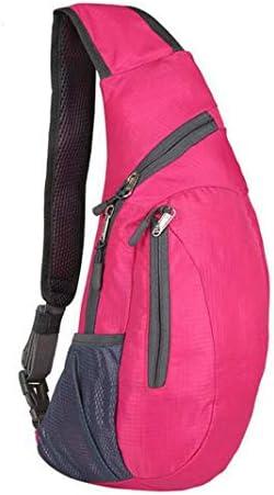 折り畳み式のメンズスポーツバッグアウトドアショルダーバッグをハイキングメンズ、サイクリングに適した女性の折り畳み式のショルダーバッグ、胸のバックパック、クロスボディバッグ、ウォーキング、