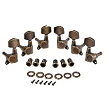 Healifty Guitar tuners set machine heads bronze tuning pegs tuners for electric acoustic guitar 6pcs