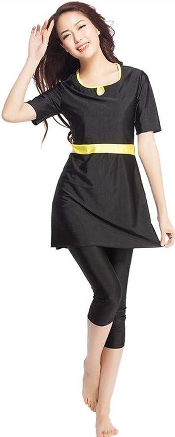 Nuovo Musulmano Costumi Da Bagno Islamico Donne Manica Corta Modesto Costume Da Bagno Beachwear Burkini Signora Eruzione Cutanea Surf Completo Da Costume Abbigliamento Abbigliamento Specifico