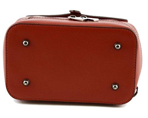 vera modello SUPERFLYBAGS Rosso a Donna Made pelle mano Italy Zaino Ligia Borsa In HqFXUqwZ