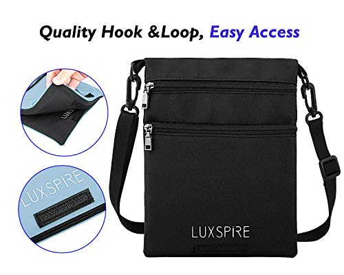 Gray Luxspire Black Shoulder Women Casual Small Bag amp; body Men Pouch Cross wPqrfw