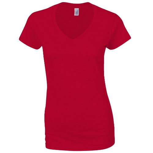 Maglietta Maniche Gildan Navy Donna Corte Blu dRS545Yqnw