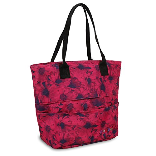 - J World New York Women's Sunrise Rolling Backpack Travel Tote, Bellis, One Size