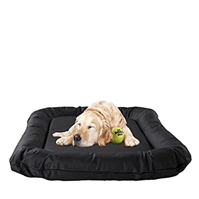 The Dog's Bed, Premium Waterproof Dog Beds, 5 sizes, 7 Colors, Quality Oxford Fabric & Designed for Comfort, Washable Cover, Boarding Kennel Favorite