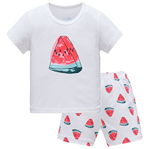 Hugbug Girls Watermelon Pajamas 2 7T product image
