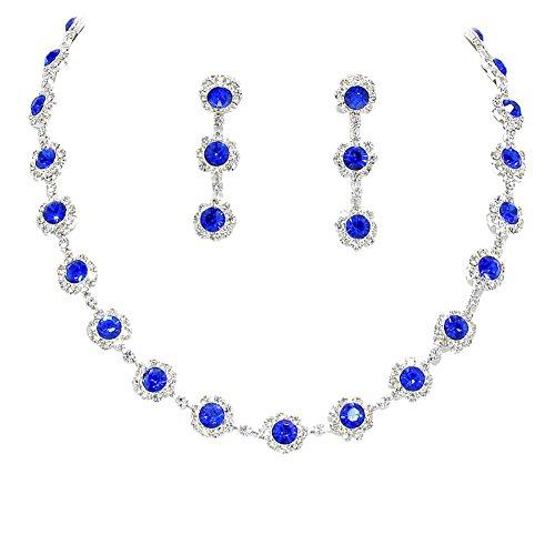oral Crystal Rhinestone Collar Necklace Necklace Set Bridal Bridesmaid Prom ()