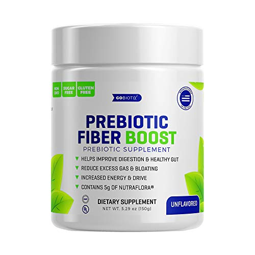 GoBiotix Prebiotic Fiber Boost - Support a Healthy Gut and Digestive Regularity, Feed Good Bacteria, Ease Gas -Complement for Every Probiotics Supplement -Non-GMO, Gluten Free, Vegetarian/Vegan-150g