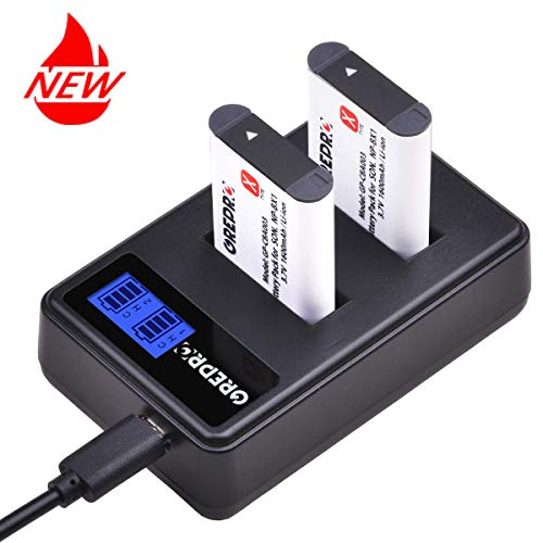 Grepro NP-BX1 Battery(2 Pack) and USB Dual Slot Charger Set for Sony NP-BX1 Sony rx100 Sony rx 100 v Sony rx100 iii Sony DSC-RX100 II,DSC-RX100M II,DSC-RX100 III,DSC-RX100 V,DSC-RX100 IV ()