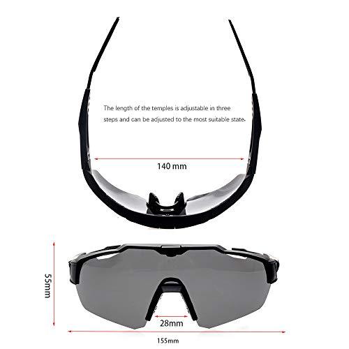 e54fe10b3b TOPTETN Polarized Sports Sunglasses with Interchangeable Lenes for Men Women  Cycling Running Driving Fishing Golf Baseball