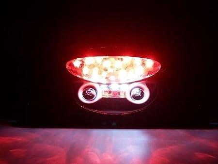 Soporte para matr/ícula de freno de motocicleta LED Quad ATV Bobber Cafe Racer Clubman Cruiser Custom