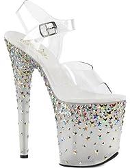 Pleaser Womens Stplash808/C/B Platform Sandal