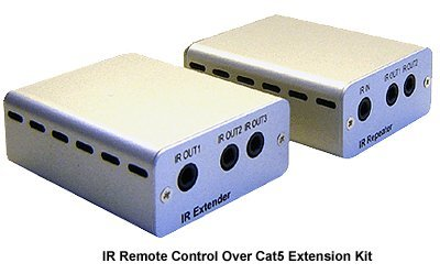 IR Remote Over Cat5 Cat6 Extender Kit + IR Remote Repeater by Generic