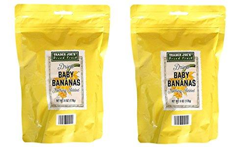 Trader Joe's Dried Baby Bananas, All Natural, 6oz Bag (Pack of 2)