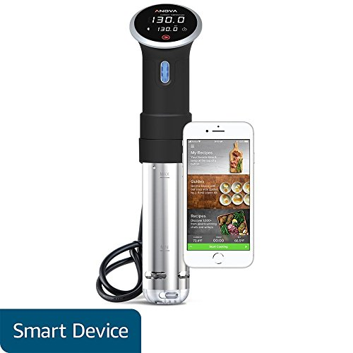 Anova Culinary A2.2-120V-US Sous Vide Precision Cooker Bluetooth, Immersion Circulator, 800 Watts, Black