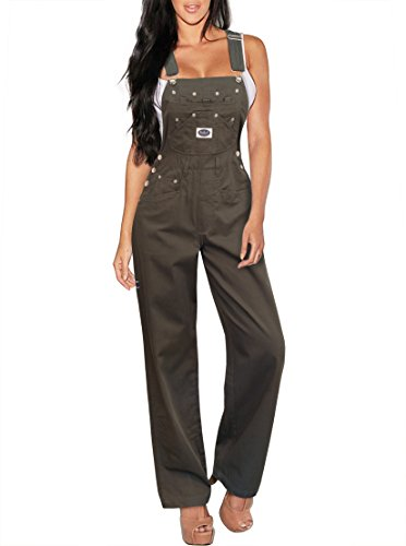HyBrid & Company Womens Stretch Denim Overalls PVJ156172 Olive L from HyBrid & Company
