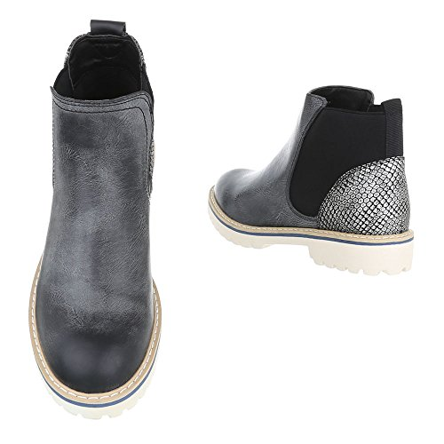 Chelsea Design Grey Ital Women's Black Boots w7qqSEB