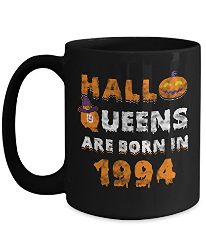 23rd Birthday Gifts Halloqueens are born in 1994 Funny Halloween Costumes Set Coffee Mugs Best Party Idea for girls friend mom women sister aunt