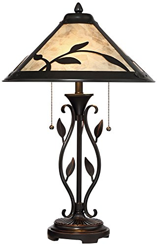 Feuille Table Lamp with Mica Shade by Franklin Iron Works