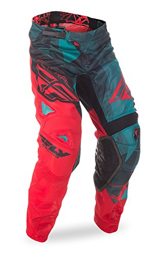 Fly Racing Unisex-Adult Kinetic Mesh Pants Teal/Red/Black Size 34