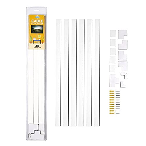 Cable Concealer On Wall Cord Cover Raceway Kit   Cable Management System To  Hide Cables, Cords, Or Wires   Cord Organizer For TVs And Computers At Home  Or ...