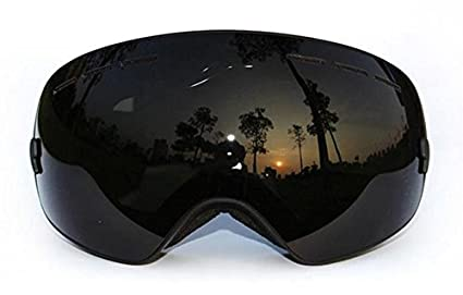 ff4533a55b8 Image Unavailable. Image not available for. Color  Ski Goggles Double Lens  Uv400 Anti-fog Big Ski Glasses Skiing Snowboarding Men Women Snow