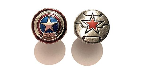giulyscreations - Gemelos para Camisa, Capitán América, Metal ...