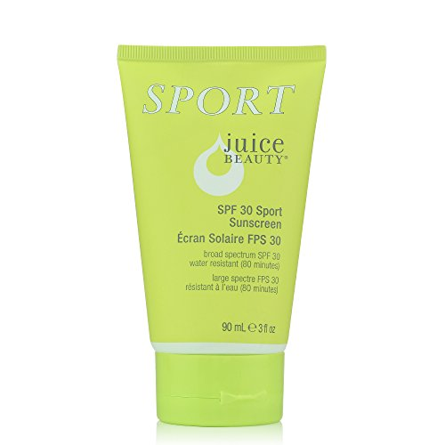Juice Beauty Reef Safe Mineral SPF 30 Sport Sunscreen, 3 fl oz, Broad Spectrum UVA UVB, Organic, Vegan, Water Resistant, Non-Toxic, No Chemical, Cruelty Free