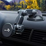 BEYYON Car Phone Mount Holder Magnetic for Car Dashboard Windshield with 5 Strong Magnets for iPhone Xs/Xs Max/XR/X/8/8Plus/6s, Samsung Galaxy S8 Edge/S7/S6/Note 9, Huawei, Google Nexus and More