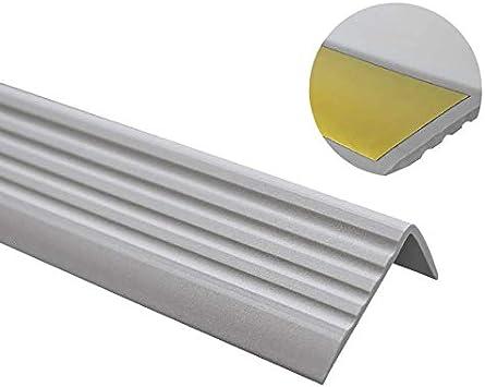 Perfil de borde antideslizante para escaleras, autoadhesivo, perfil en ángulo de PVC, goma ND, 1,1 metros, 40 x 25 mm: Amazon.es: Bricolaje y herramientas