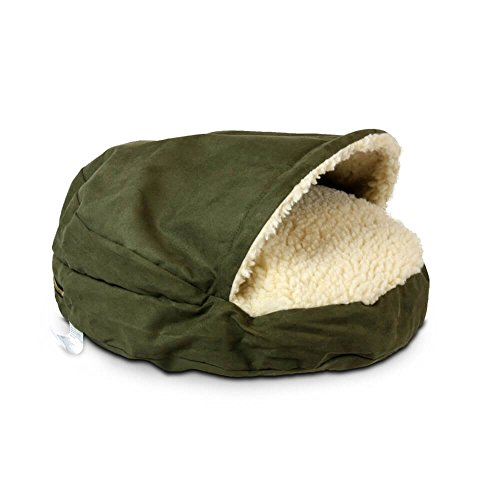 Snoozer Luxury Cozy Cave Pet Bed, Large, Olive ()