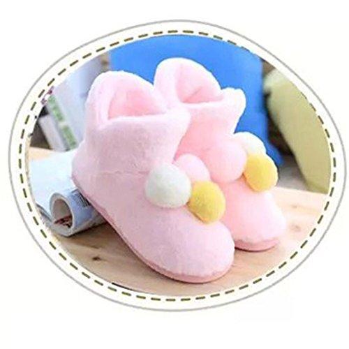 Elevin (tm) Femmes Enceintes Maison Pantoufles Hairball Hiver Automne Chaussures Chaudes Chaussures De Yoga Rose