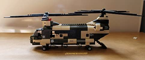 Sluban Military Building Bricks Set Army Chinook Helicopter B0508 520 Piece
