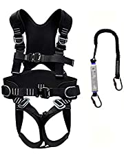 Safety Harness Fall Protection, Safety Harness, Fall Arrest Kit, Vest-Style Full Body Safety Harness, With 3 D-Rings, Belt And Padding, Quick Connect Legs And Chest