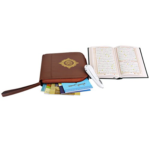 Hitopin-Digital-Islamic-Holy-Quran-Pen-Leather-Bag-Word-by-Word-Function-for-Kid-and-Arabic-Learner-Downloading-Many-Reciters-and-Languages-Digital-Quran-Pen-5-Small-Books
