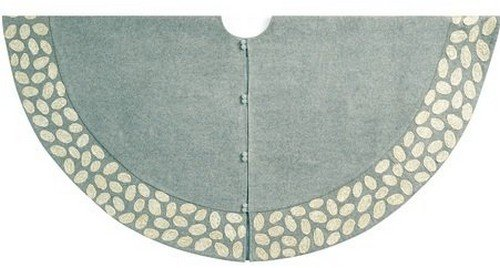 Arcadia Home TW4GRY Contemporary Pebble Pattern Tree Skirt Handmade , Grey by Arcadia Home