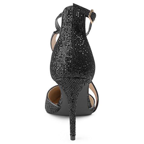 Cinturino Asimmetrico Da Donna Collezione Journee Con Punta Glitterata Nera