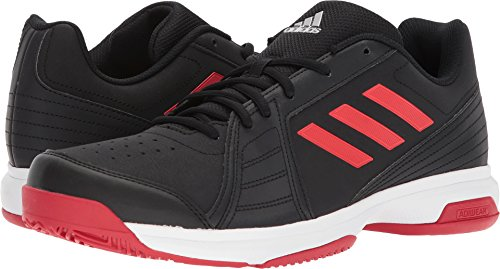 adidas Men's Approach Tennis Shoe, Core Black/Scarlet/White, 9.5 M US (Racket Shoes)