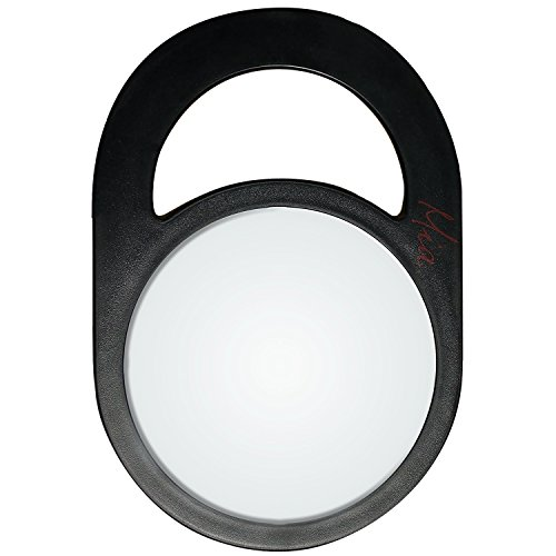 Mia Hanging Mirror-Large Salon Size-Measures 11 Inches Long x 7.5 Inches Wide x 0.25 Inches Deep-Black Color-1 - Stylist Rachel