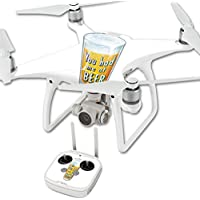 Skin For DJI Phantom 4 Quadcopter Drone – Beer Lover | MightySkins Protective, Durable, and Unique Vinyl Decal wrap cover | Easy To Apply, Remove, and Change Styles | Made in the USA